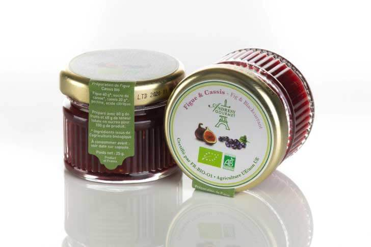 Confiture BIO figue-cassis