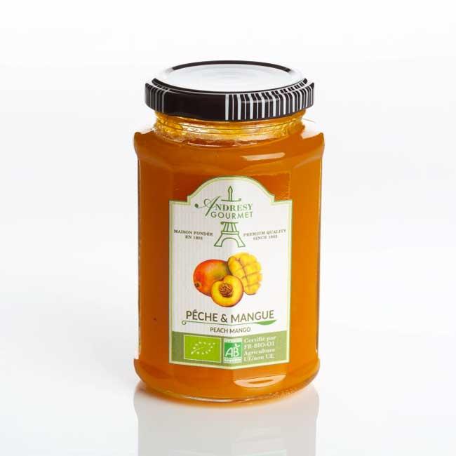 Confiture Bio Pêche-Mangue