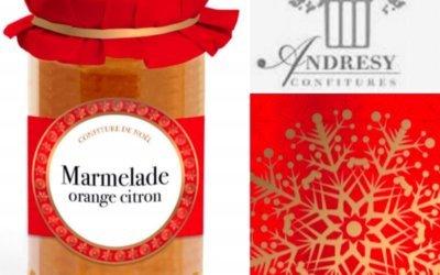 Les confitures de Noël d'Andrésy Confitures : des délices éphémères à proposer dans vos magasins