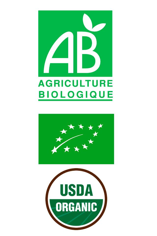 Andrésy Confitures est certifié AB en France et Organic en Europe, USDA aux USA pour ses fruits et recettes biologiques
