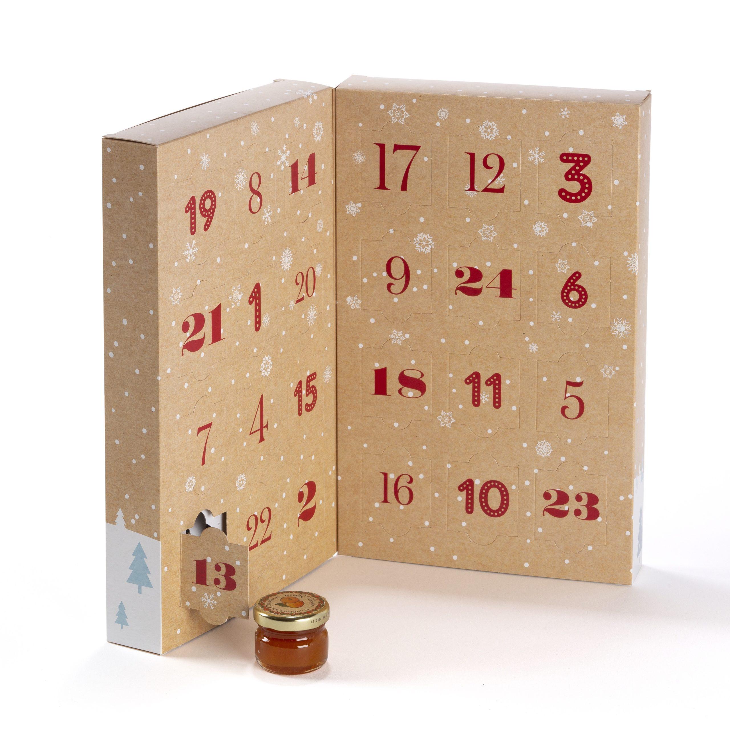 Andrésy Confitures présente son calendrier de l'Avent avec 24 mini pots de confitures extra